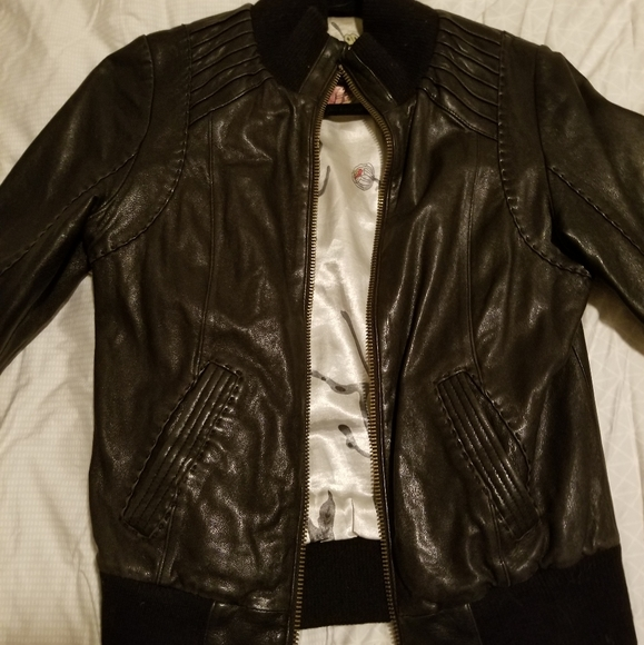 Mackage for Aritzia Lamb Leather jacket